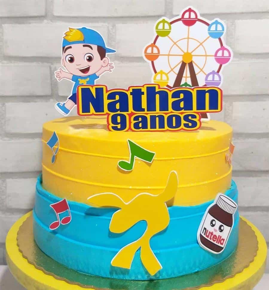topo de bolo simples com nome