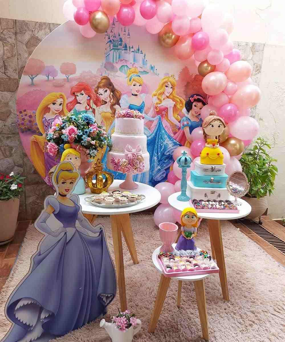 festa infantil das princesas em casa