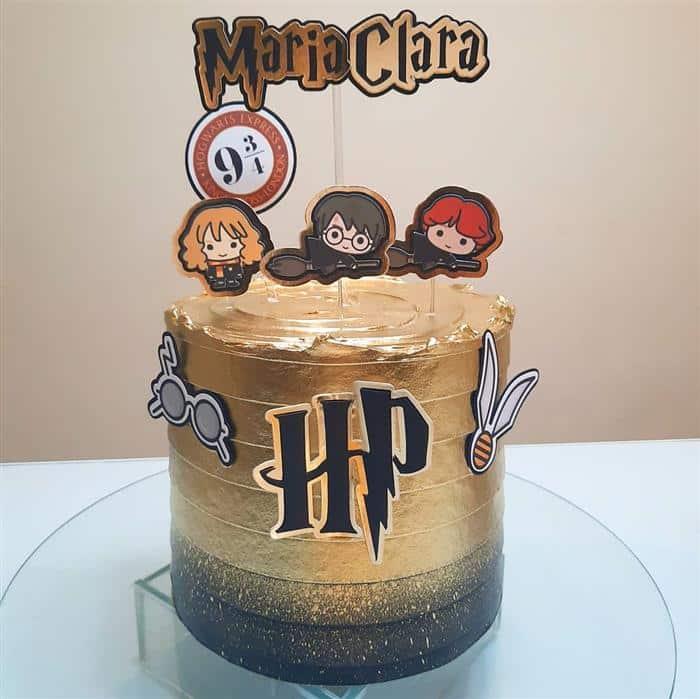 bolo dourado harry potter