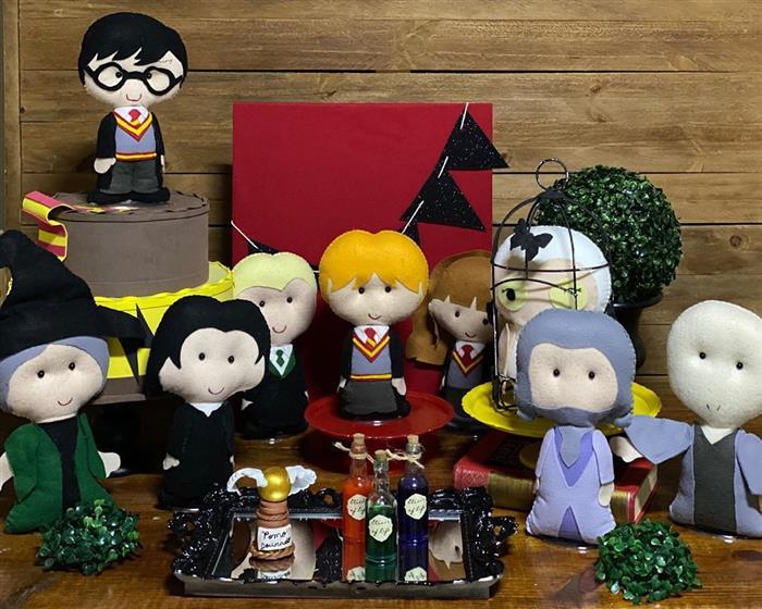 festa harry potter feltro