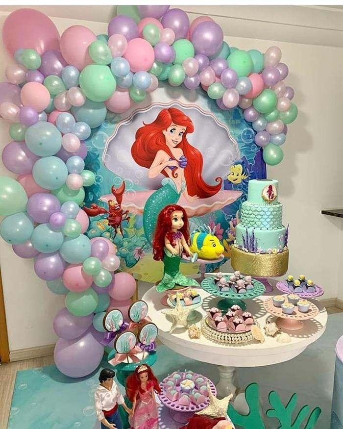 festa de sereia ariel