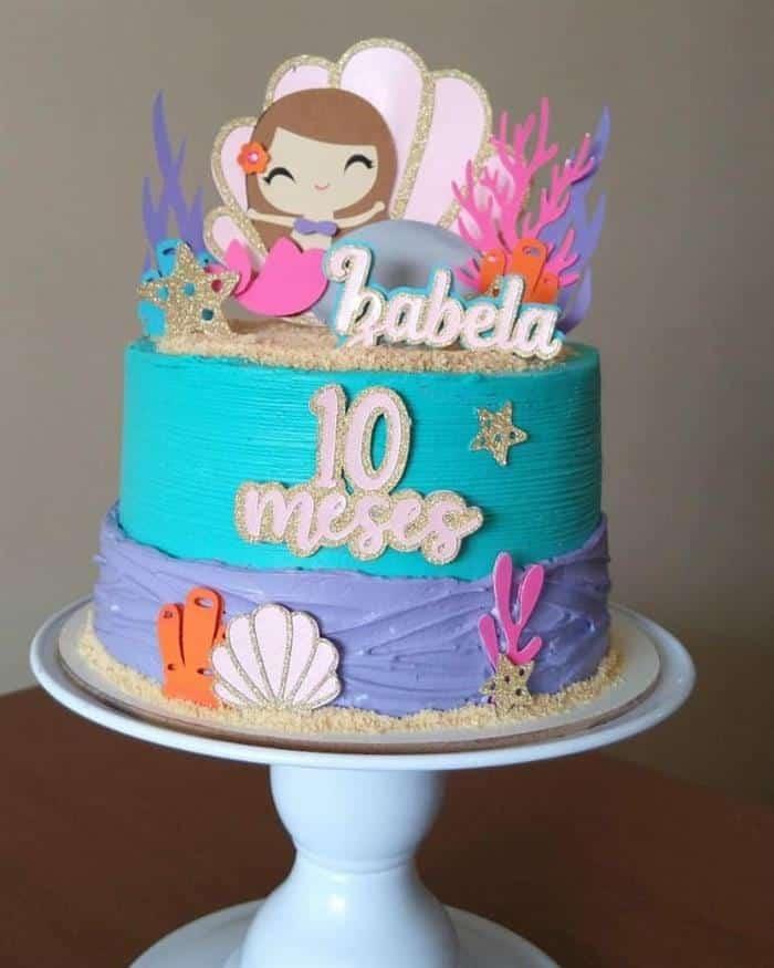 festa sereia bolo