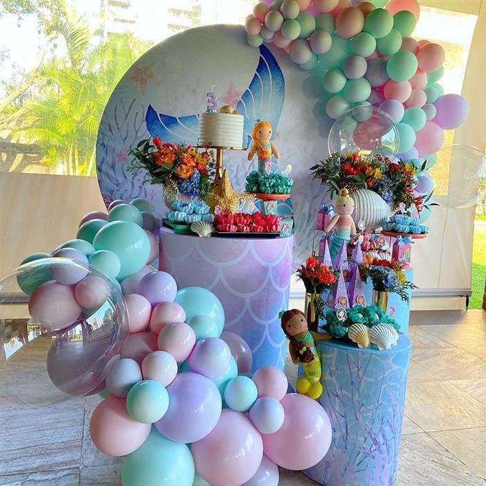 festa sereia decoração