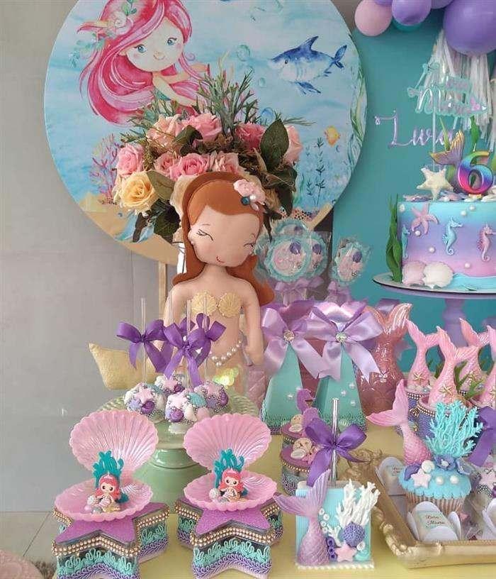 festa sereia infantil