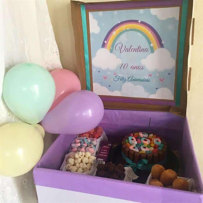festa simples arco iris