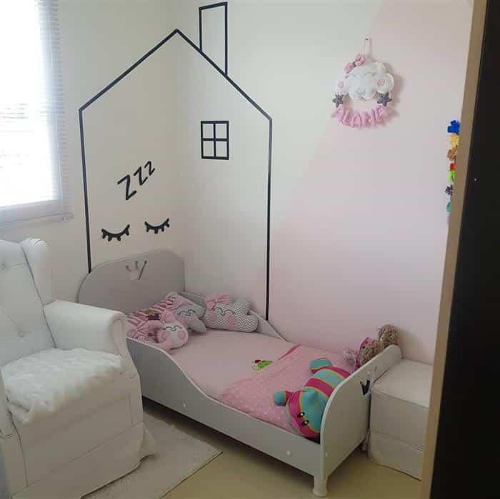 decoração de quarto infantil feminino pequeno