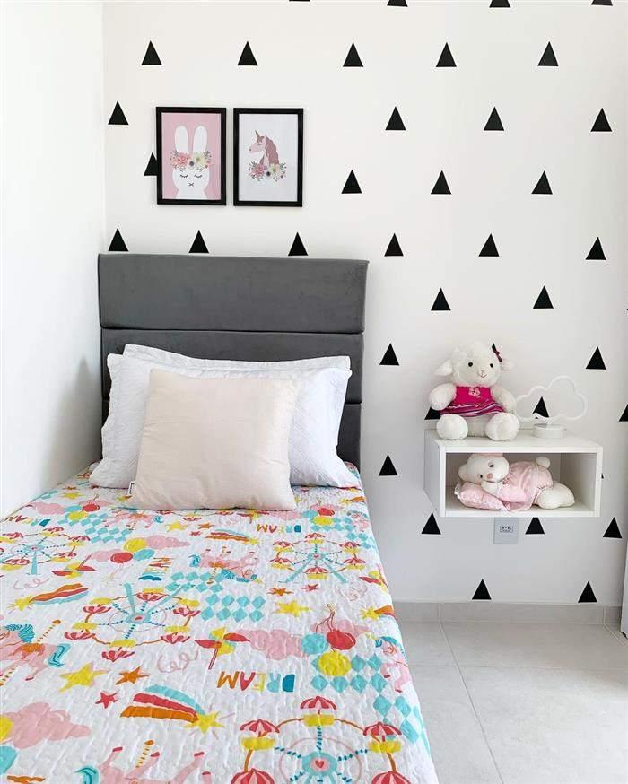 decoração de quarto infantil feminino simples e barato