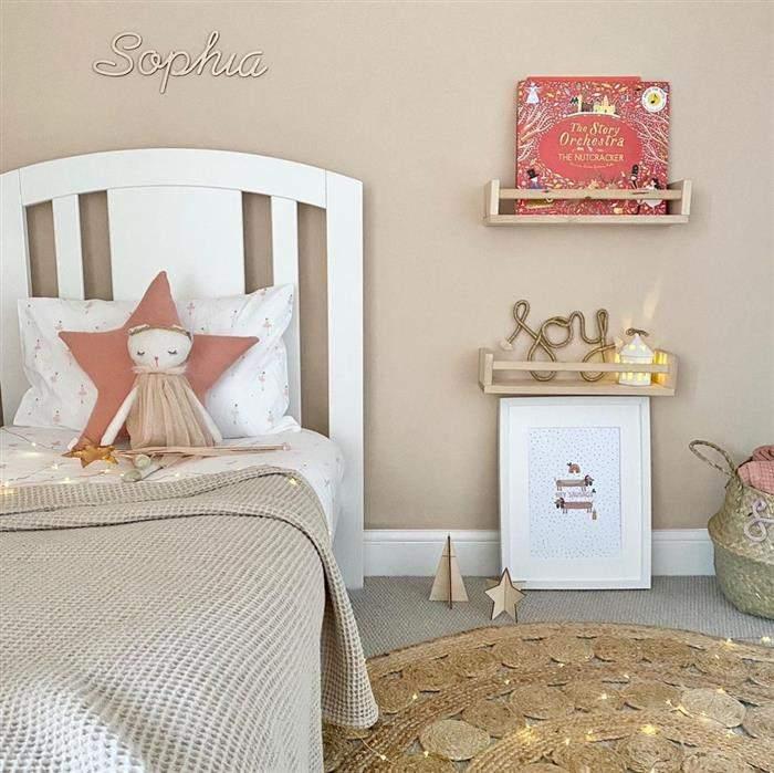 decoração de quarto infantil feminino simples