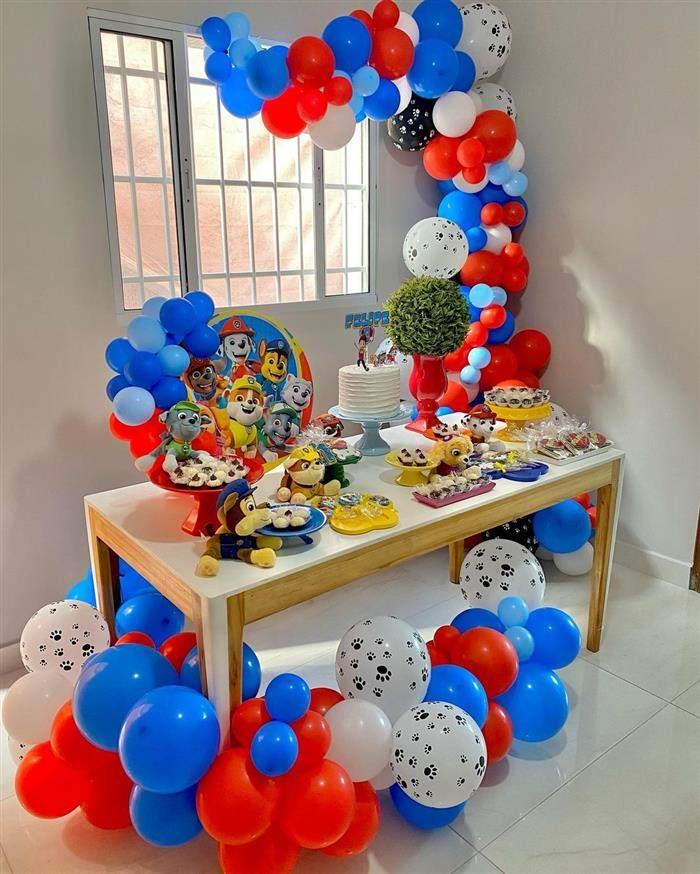 decoração com baloes
