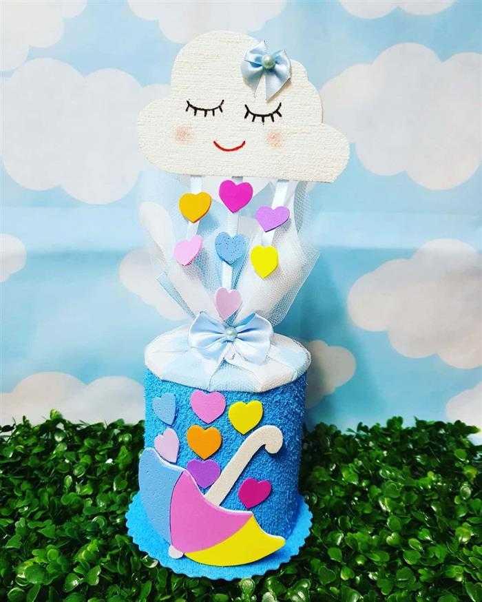 lata de leite decorada chuva de amor