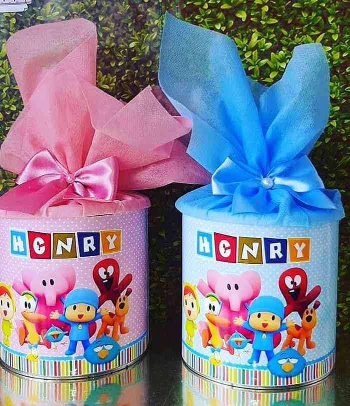lata de leite decorada para aniversário