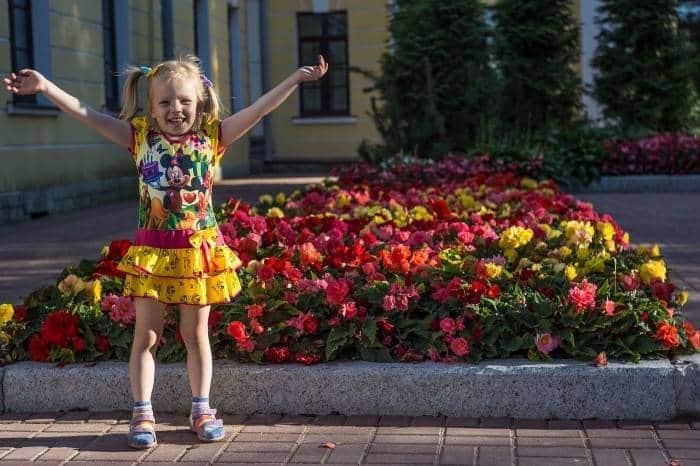 vestido de verão de criança