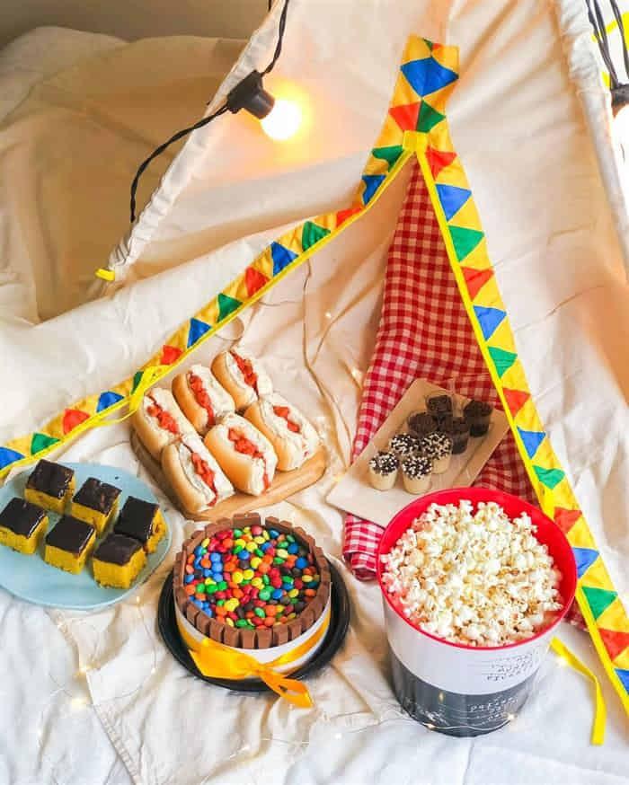 comidas festa do pijama