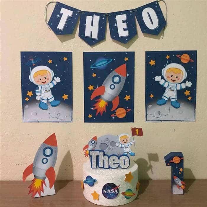 astronauta festa de 1 ano